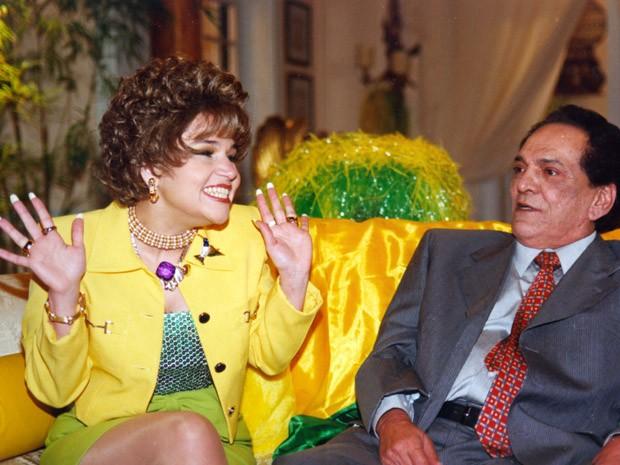 O casal hilrio Oflia (Claudia Rodrigues) e Fernandinho (Lcio Mauro) (Foto: TV Globo)