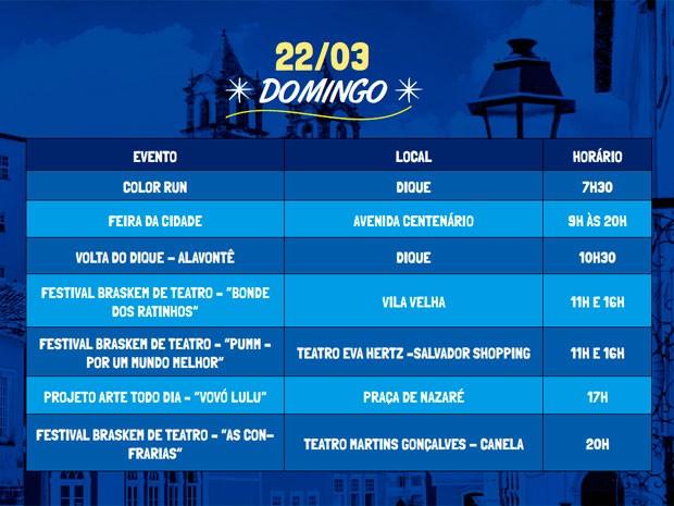Programação do primeiro dia do Festival da Cidade (Foto: Divulgação / Agecom)