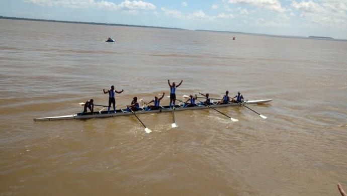 Paysandu comemora a conquista da terceira regata (Foto: Reprodução/Twitter oficial do Paysandu)