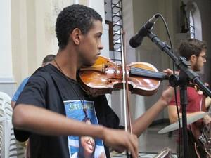 Lucas Santiago, irmão de Lais (Foto: Jonatas Oliveira/G1)