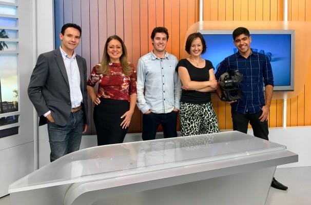 Equipe RBS TV Bagé (Foto: Maria Eduarda Rivero/RBS TV)