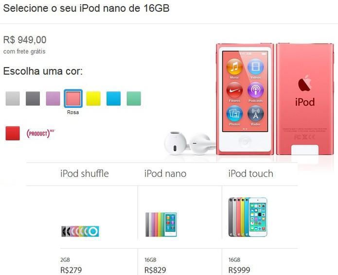 Aumento nos iPod Nano de 16 GB tem aumento de R$ 120 (Foto: Reprodução/Barbara Mannara)