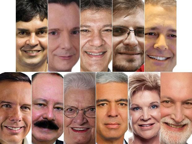 Fotos dos candidatos a prefeito de São Paulo (Foto: Diulgação)