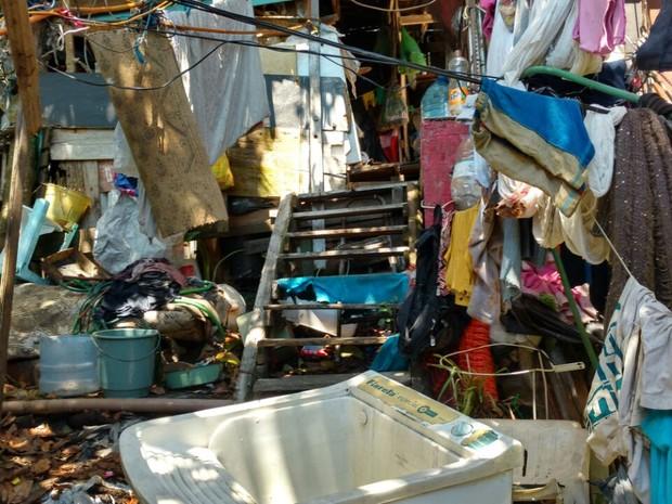 Crianças, irmãos, resgatados, situação de miséria, casebre, Caxias do Sul (Foto: Divulgação/Polícia Civil)