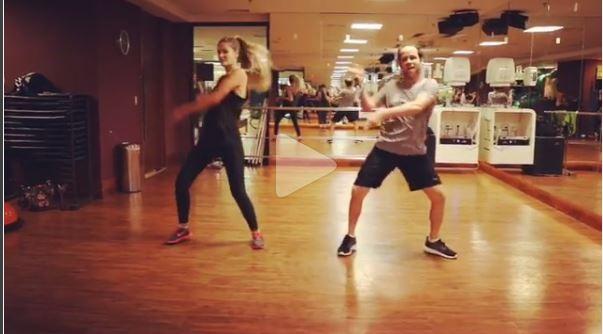 Yasmin Brunet na aula de dança (Foto: Reprodução/Instagram)