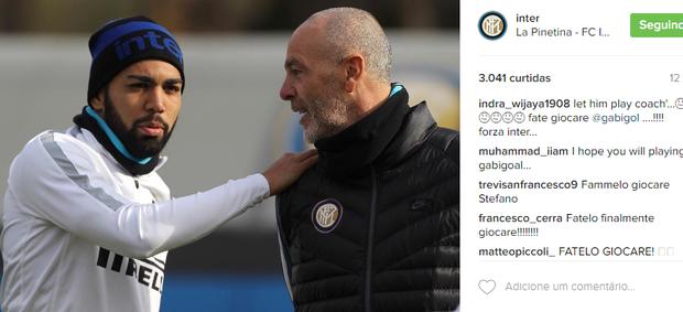 BLOG: Inter de Milão publica foto do novo técnico, e torcida pede Gabigol