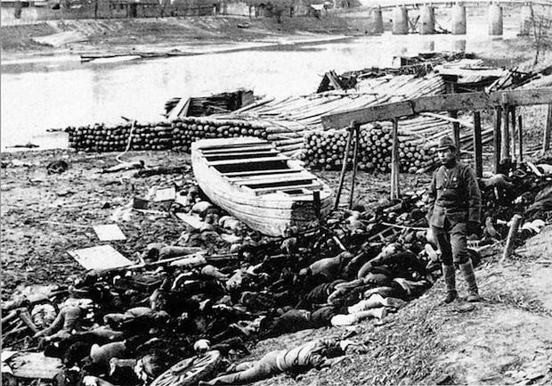 Corpos em Nanquim. (Foto: Wikipedia)