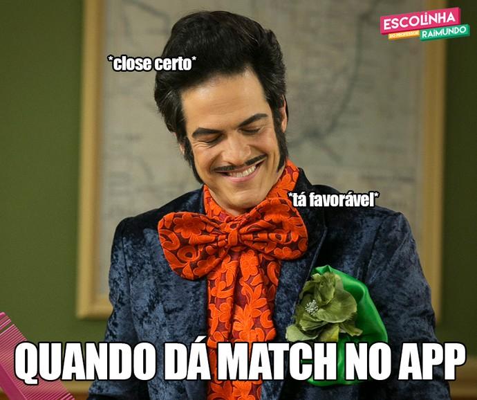 Quando dá match no App (Foto: Raphael Dias/Gshow)