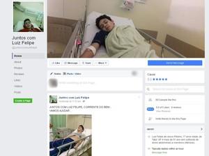 Amigos fizeram página no Facebook para ajudar adolescente (Foto: Reprodução/Facebook)
