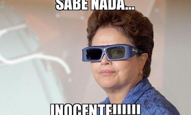 Dilma inocente (Foto: André Dusek / AE / geradormemes.com)
