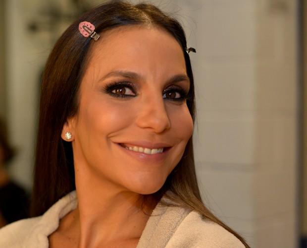 Ivete Sangalo Make (Foto: Camila Serejo/TV Globo)