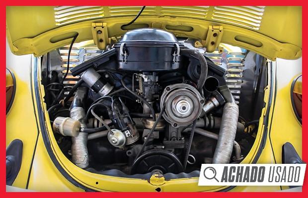 Motor 1.6 boxer do Fusca Karmann tem injeção eletrônica e muita maciez para rodar sem pressa (Foto:  Reprodução)