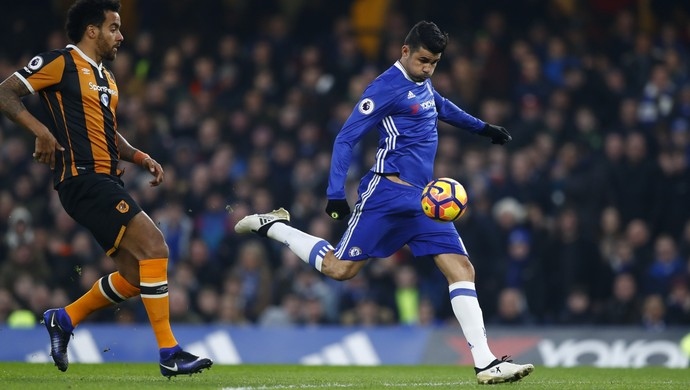Diego Costa, Chelsea x Hull City (Foto: Reuters)