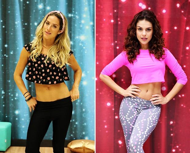Giovanna Ewbank e Paloma Bernardi dão dicas para ter a barriga sequinha (Foto: TV Globo/ Camila Camacho/ Fábio Rocha)
