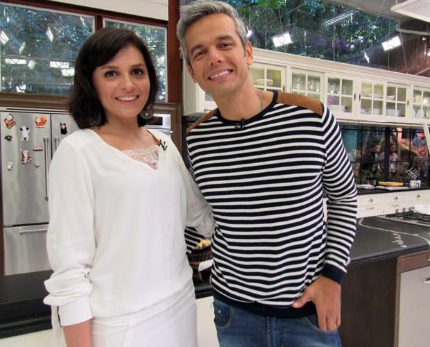 Monica Iozzi e Otaviano Costa são convidados do Mais Você (Foto: Carolina Berger/Gshow)