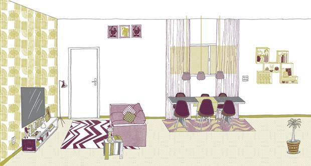 sala guia métrico ilustração (Foto: Daniel Almeida)