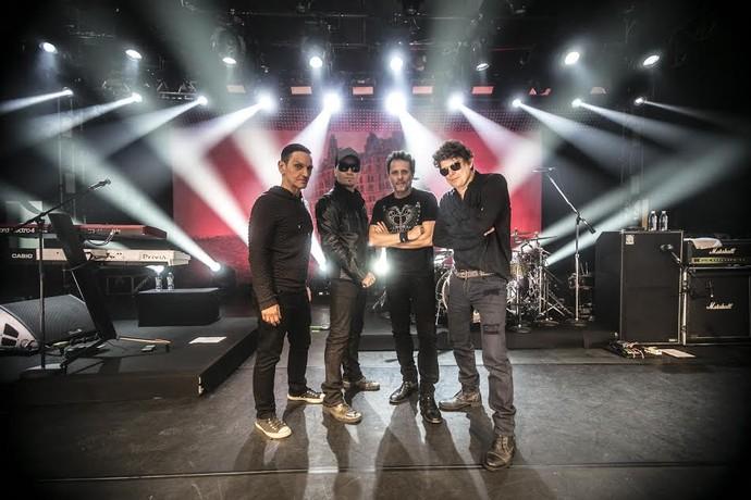 Os músicos do Titãs (Foto: Silmara Ciuffa)