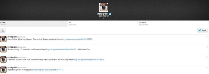 Instagram não anuncia o motivo da falha e apaga tuíte sobre ocorrido (Foto: Reprodução/Barbara Mannara)