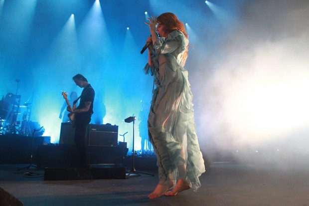 Florence Welch, da banda Florence and the machine (Foto: Marcello Sá Barretto/ AgNews)