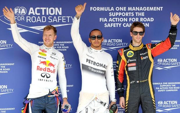 Hamilton pole treino GP Hungria (Foto: AFP)