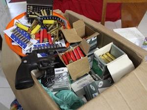 Armas e munições são apreendidas em megaoperação da Polícia Civil (Foto: Divulgação)