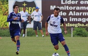 De novo sem Edigar e Hernane, Bahia faz segundo treino do dia no Fazendão