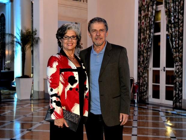 José Mayer e esposa (Foto: Roberto Teixeira / EGO)