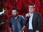 Ao lado das mulheres, Marcos e Belutti fazem show no Rio