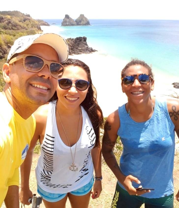 Ailton Flor, Thamara de Paula e Rafaela Silva
