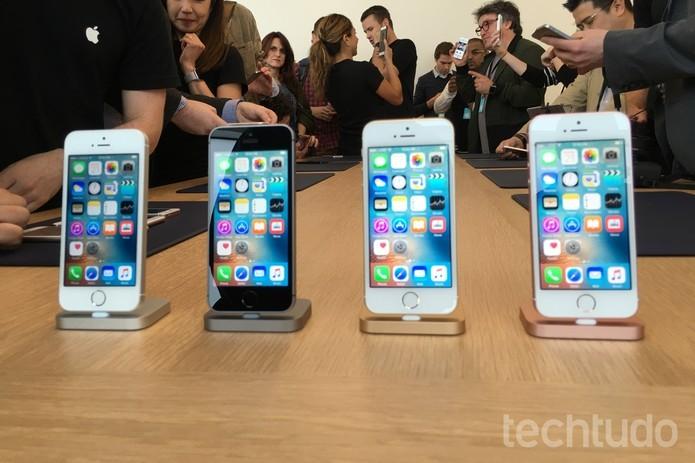 iPhone SE vem com processador mais potente e design do 5S (Foto: Thassius Veloso/TechTudo)