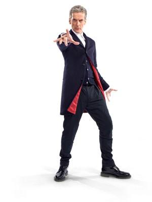 Peter Capaldi com o figurino da série 'Doctor Who' (Foto: Divulgação/BBC) (Foto: BBC/Steve Brown)