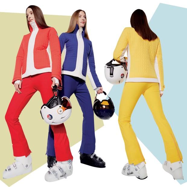 Conjuntos em tons vibrantes são o destaque da Fulsap (Foto: Reprodução Vogue Russia Novembro de 2016 Página 202 e Divulgação)