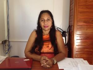 Deuzamirtes Moura, coordenadora de educação (Foto: Gabriel Dias/G1)