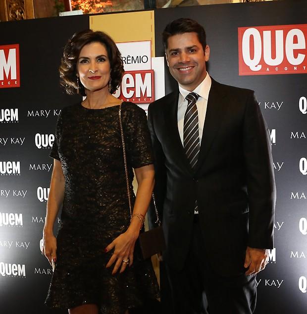 Fátima Bernardes e Lair Rennó (Foto: Gianne Carvalho)
