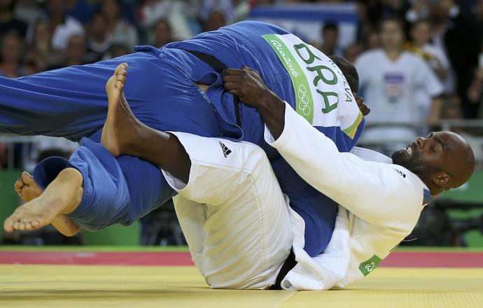 Teddy Riner e  Rafael Silva judô (Foto: . REUTERS/Toru Hanai )