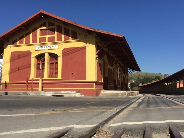 Estação Ferroviária de Guararema é um marco do desenvolvimento da cidade (Foto: Cristina Requena/G1)