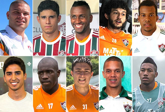 Montagem jogadores Fluminense (Foto: infoesporte)