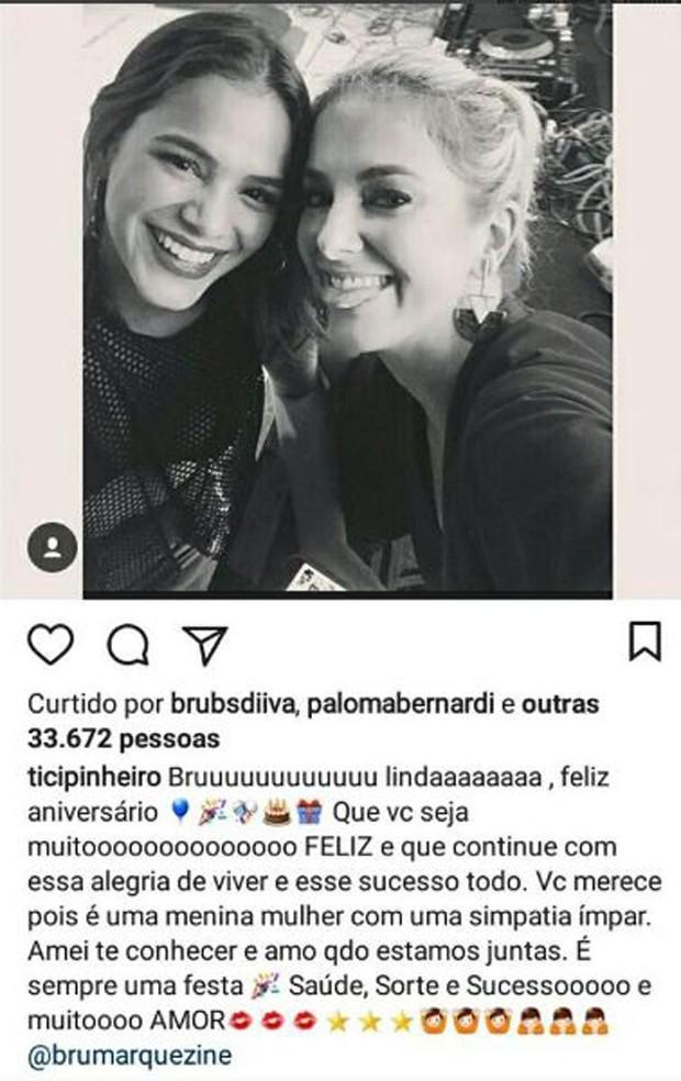 Bruna Marquezine e Ticiane Pinheiro (Foto: Reprodução/Instagram)