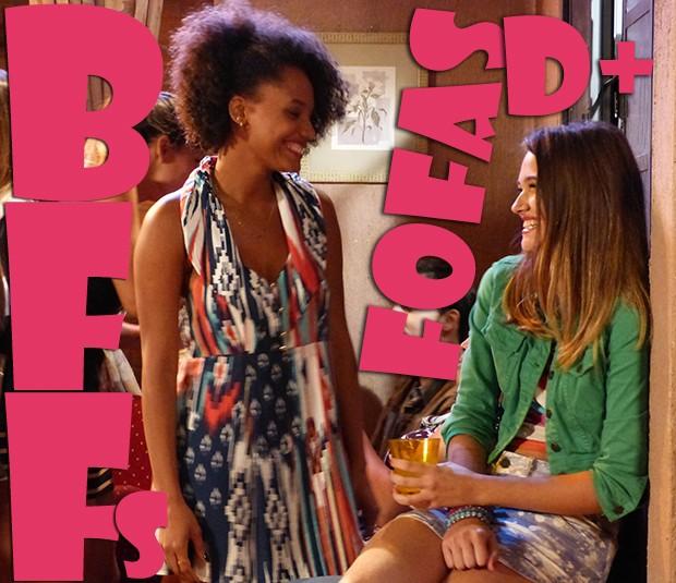 Rita e Fatinha muito fofas de BFFs!! (Foto: Malhação / TV Globo)
