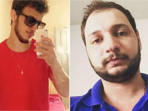 Stefano Valentim (blusa vermelha) e Douglas Juliatti morreram em acidente no Noroeste do Espírito Santo (Foto: Reprodução/ Internet)