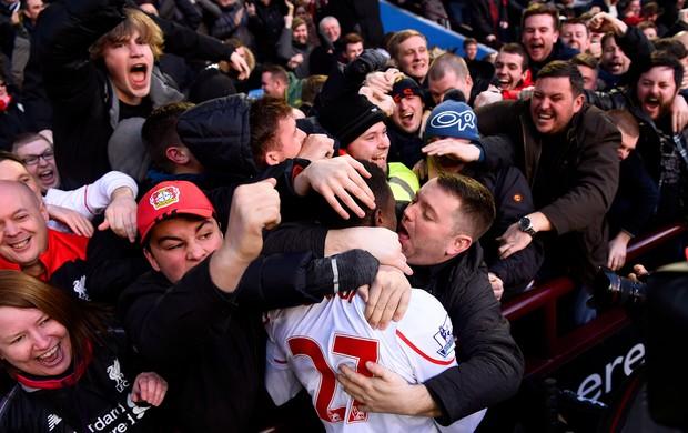 Divock Origi Liverpool x Aston Villa