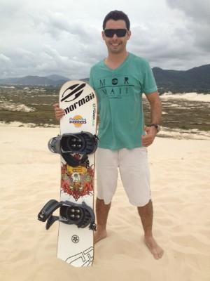 E conheça a prática de sandboard com tetracampeão mundial (Foto: Sonia Campos/RBS TV)
