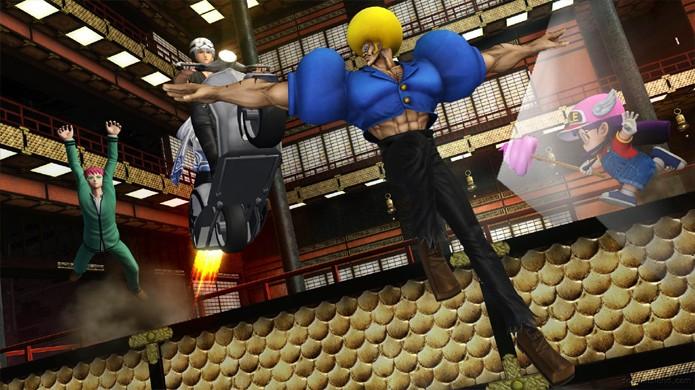 Representando séries bizarras, BoBobobo-bo Bo-bobo traz protagonista que ataca com pelos gigantes do nariz (Foto: Reprodução/Sayan Island)