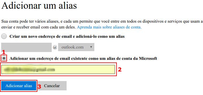 Adicionar um e-mail na conta Microsoft (Foto: Reprodução/Edivaldo Brito)