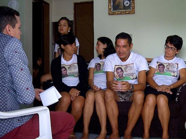 Família de PM morto a tiros em shopping de Natal (Foto: Sérgio Henrique Santos/Inter TV Cabugi)