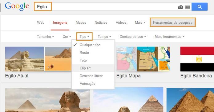 Encontre imagens GIF e mais tipos com o Google (Foto: Reprodução/Barbara Mannara)