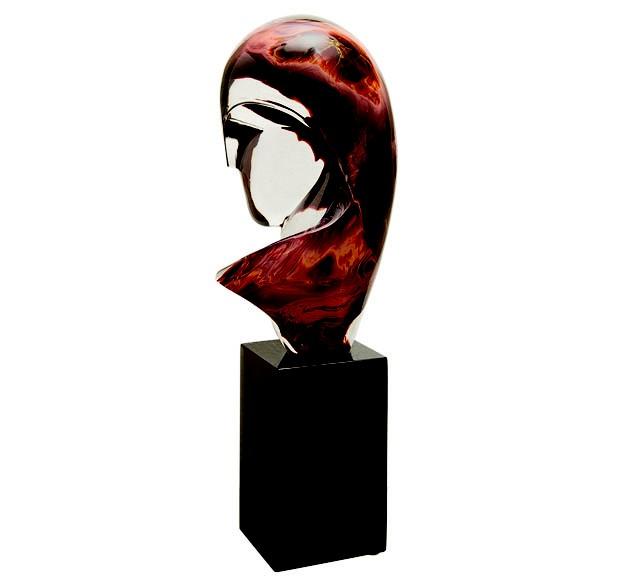 Torso, escultura de vidro de Murano assinada por Constantin Brancusi (Foto: divulgação)