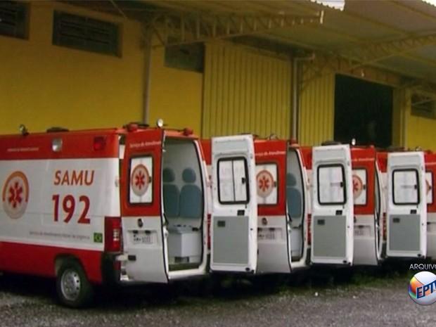 Ambulâncias do Samu de Passos são recolhidas por Saúde Estadual (Foto: Reprodução EPTV)