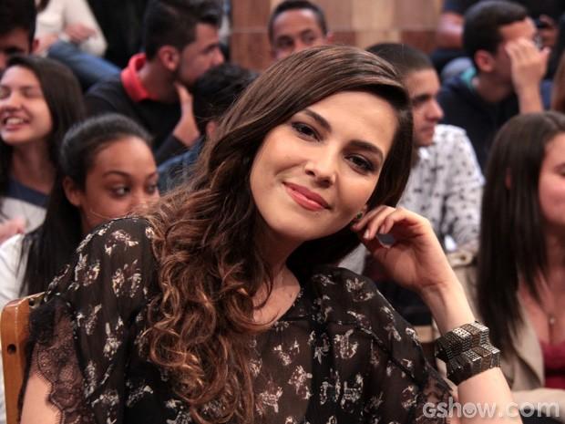 Tainá Müller participa da gravação do programa Altas Horas (Foto: TV Globo/Altas Horas)