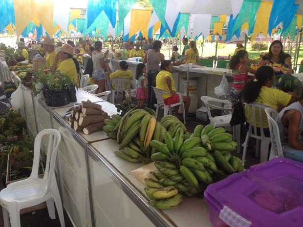 Edição de Feira do mês de junho foi realizada neste sábado, 7, em Macapá (Foto: John Pacheco/G1)